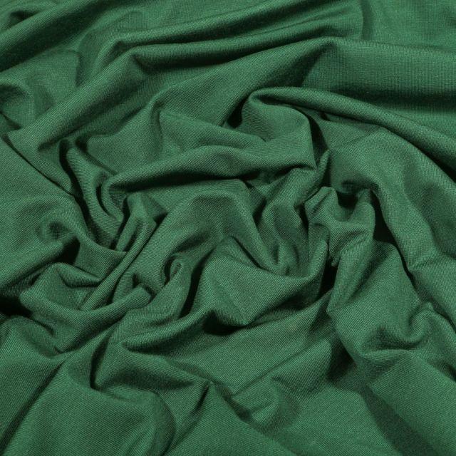 Tissu Jersey Bambou uni Vert épicéa - Par 10 cm