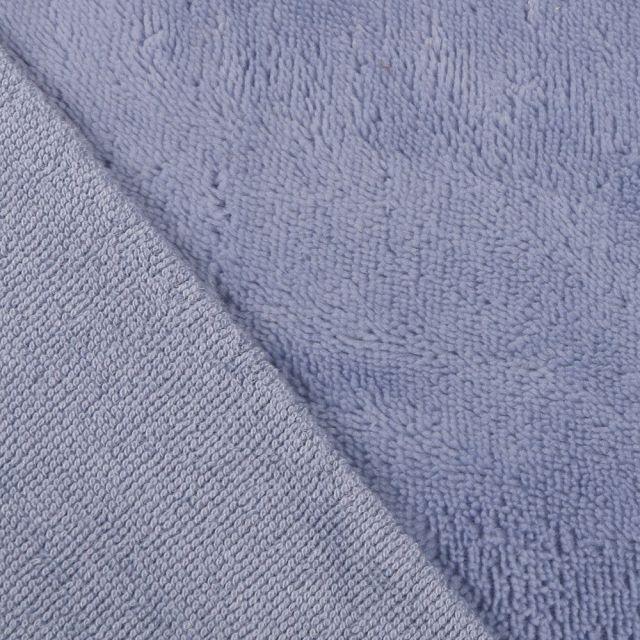 Tissu Micro Éponge Bambou Bleu ciel - Par 10 cm