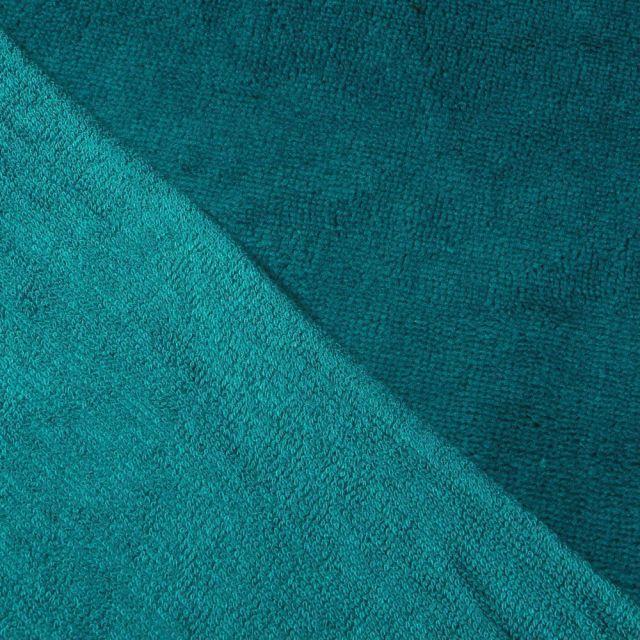 Tissu Micro Éponge Bambou Vert canard - Par 10 cm