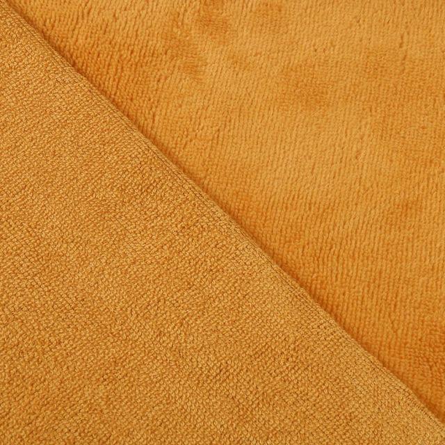 Tissu Micro Éponge Bambou Jaune curry - Par 10 cm