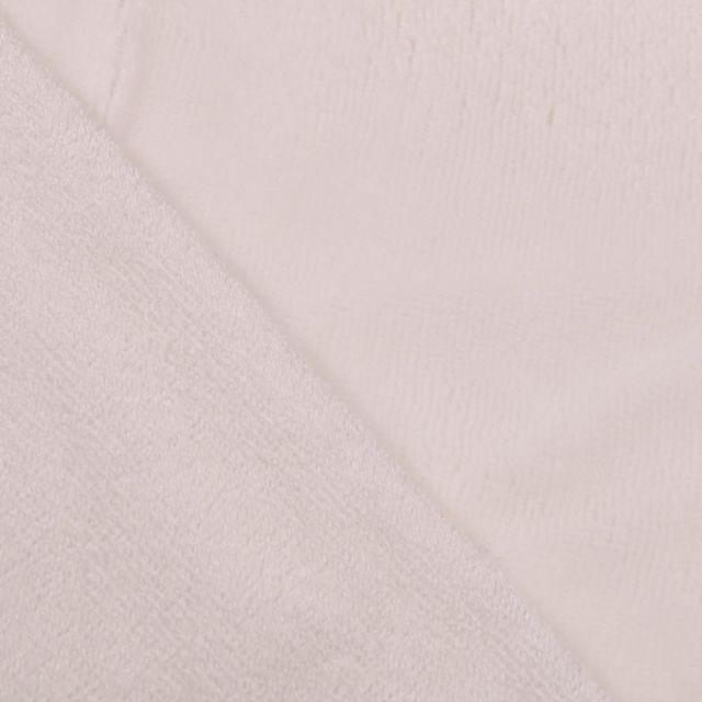 Tissu Micro Éponge Bambou Blanc cassé - Par 10 cm