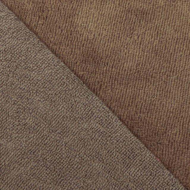 Tissu Micro Éponge Bambou Taupe - Par 10 cm