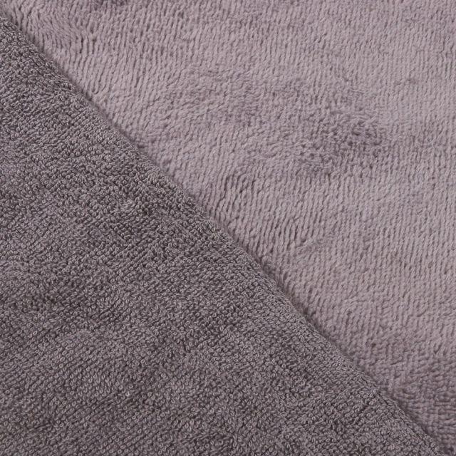 Tissu Micro Éponge Bambou Gris clair - Par 10 cm
