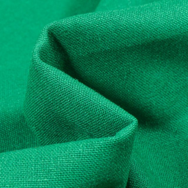 Tissu Coton Lin uni Vert
