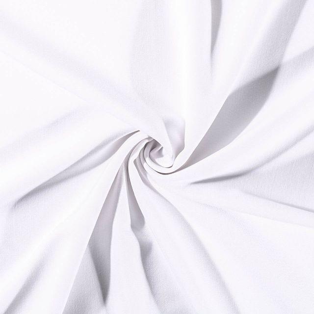 Tissu Gabardine de viscose uni Blanc - Par 10 cm