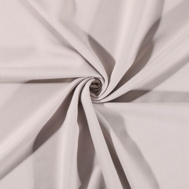 Tissu Gabardine de viscose uni Beige - Par 10 cm