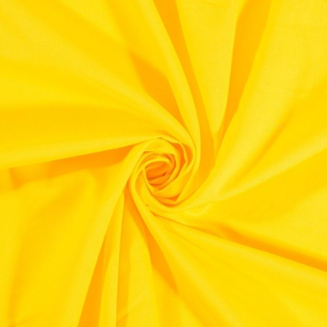 Tissu Coton uni Bouton d'or - Par 10 cm