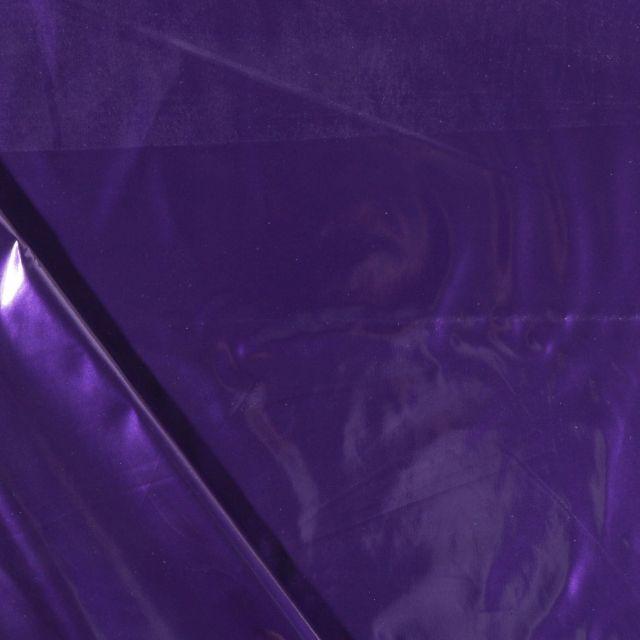 Tissu Vinyl plastifié Violet - Par 10 cm