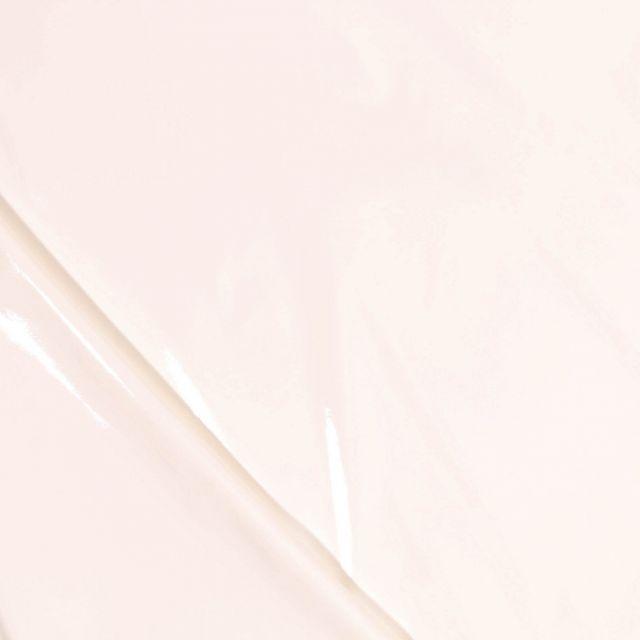 Tissu Vinyl plastifié Blanc cassé - Par 10 cm