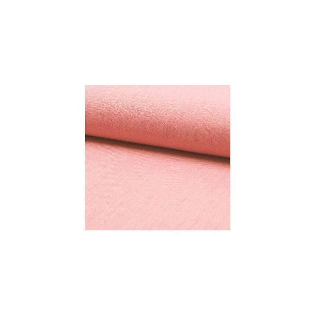 Tissu Lin Rose Bébé x10cm