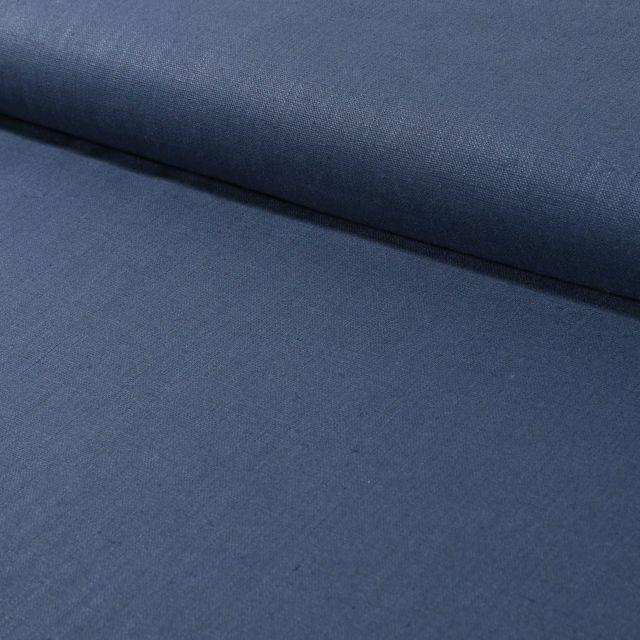 Tissu Lin Bleu ardoise x10cm