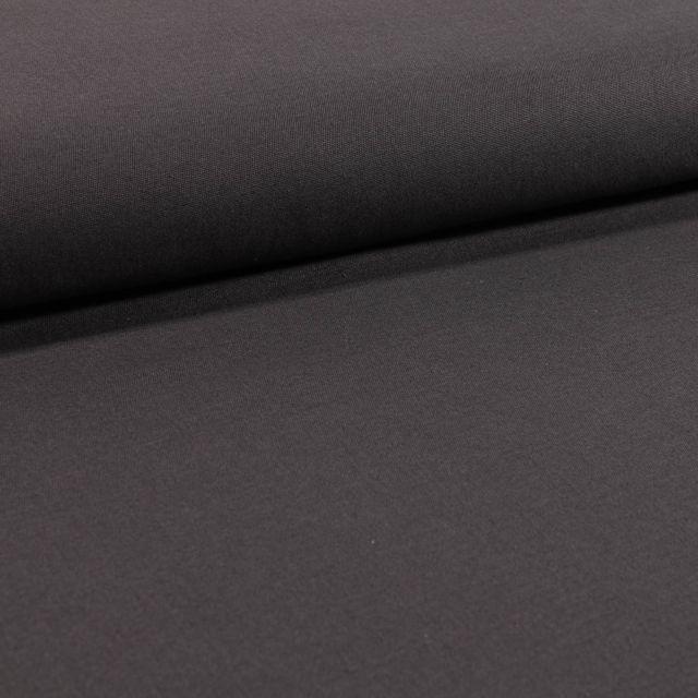 Tissu Coton Sergé extensible Anthracite - Par 10 cm