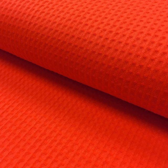 Tissu Nid d'abeille Rouge x10cm