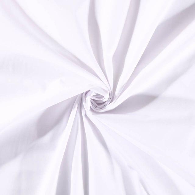 Tissu Polycoton uni Blanc - Par 10 cm