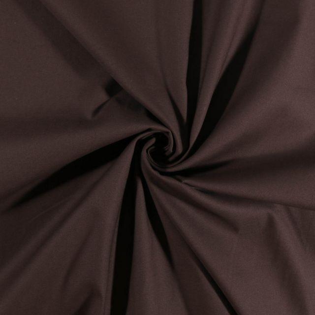 Tissu Coton Satiné extensible Ebene - Par 10 cm