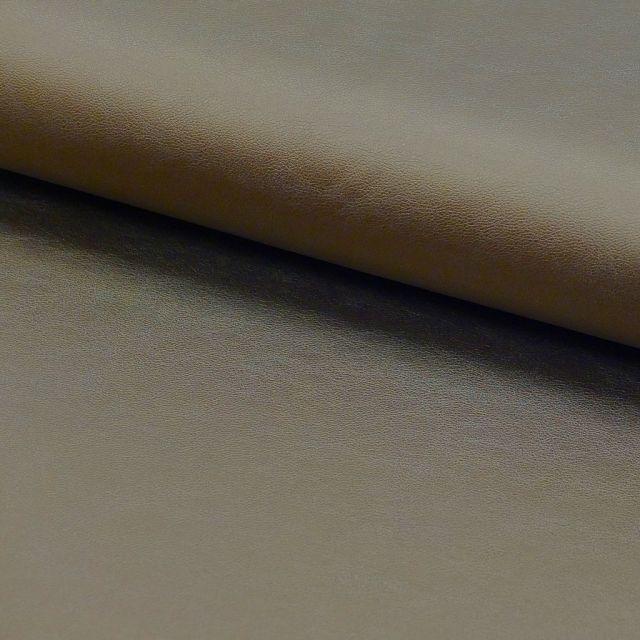 Tissu Simili cuir souple Doré x10cm