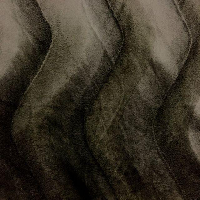 Tissu Velours Peau de bête Ours Brun x10cm