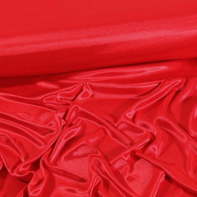 Tissu Doublure Maille Rouge - Par 10 cm