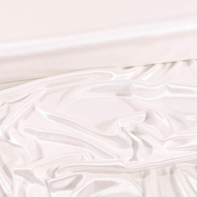 Tissu Doublure Maille Ivoire - Par 10 cm