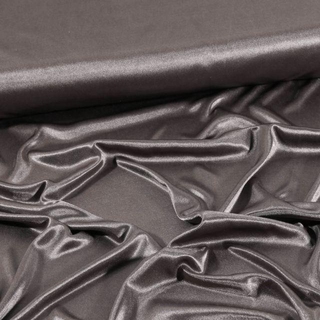 Tissu Doublure Maille Gris chiné - Par 10 cm