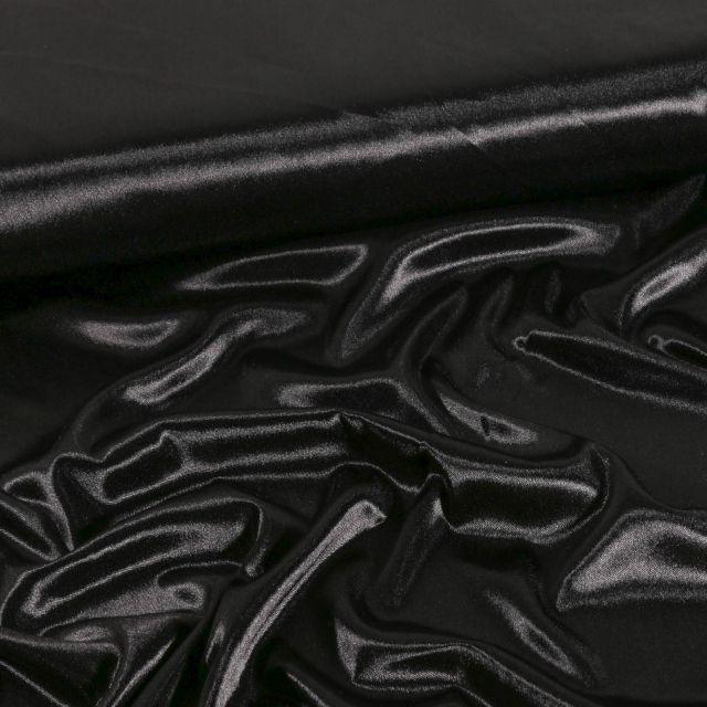 Tissu Doublure Maille Noir - Par 10 cm