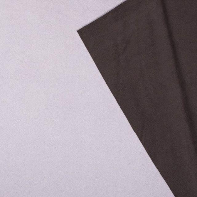 Tissu Polaire Double face Bicolore Gris clair et noir - Par 10 cm
