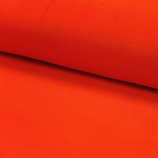 Tissu Velours milleraies Orange - Par 10 cm