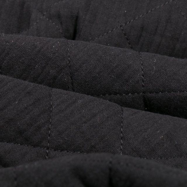Tissu Double gaze Matelassée Noir - Par 10 cm