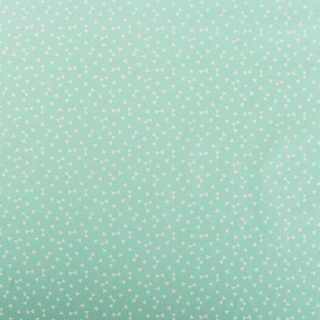 Tissu Coton Imprimé Arty Yozid Menthe - Par 10 cm