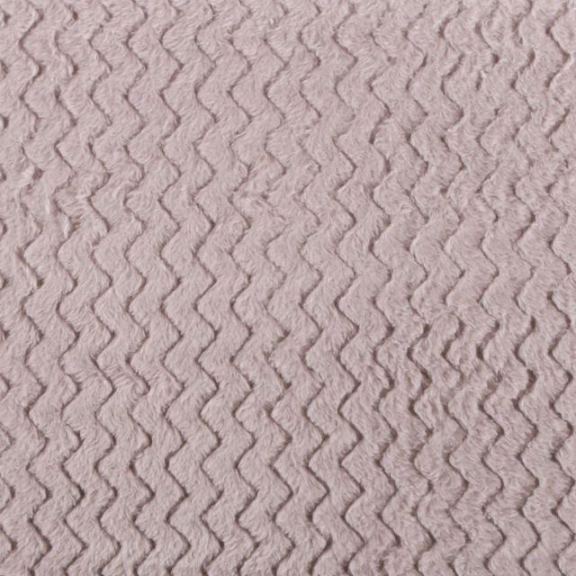 Tissu Minky Ultra doux Réversible Wave Gris - Par 10 cm