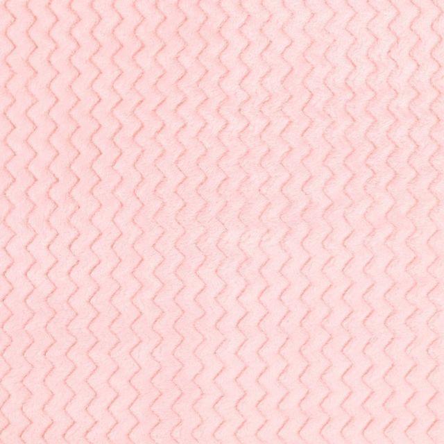 Tissu Minky Ultra doux Réversible Wave Rose - Par 10 cm