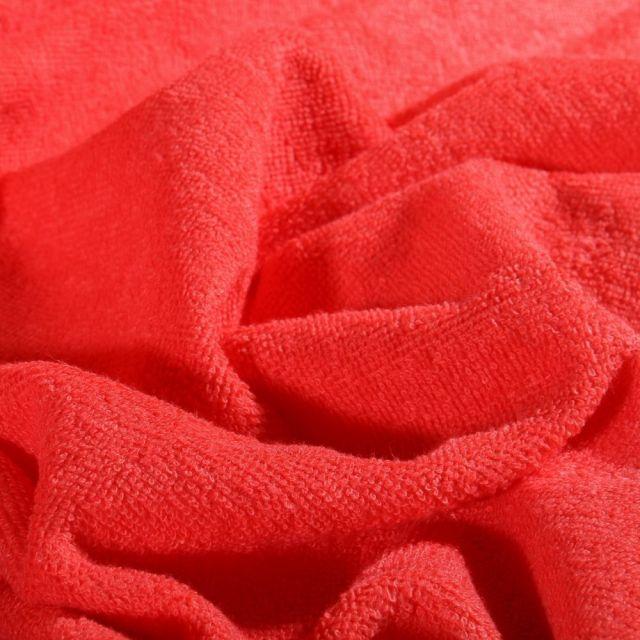 Tissu Micro Éponge Bambou Corail - Par 10 cm