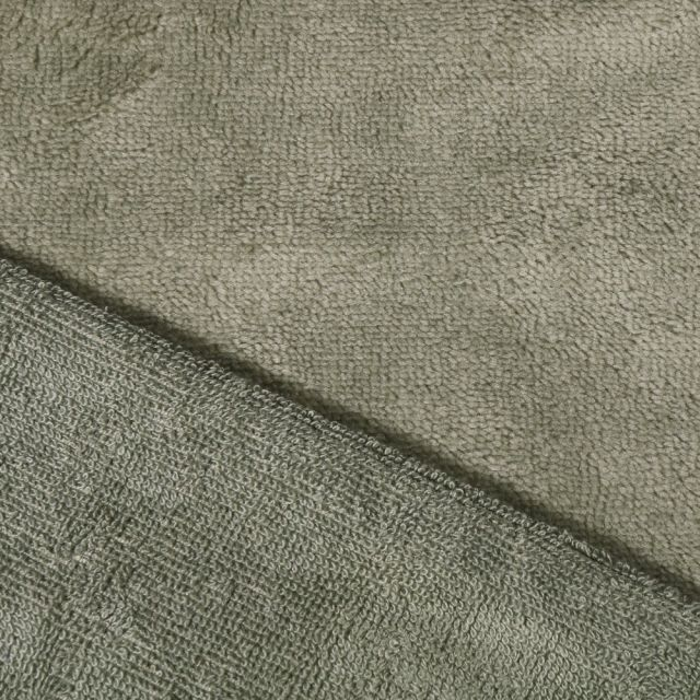 Tissu Micro Éponge Bambou Vert kaki clair - Par 10 cm