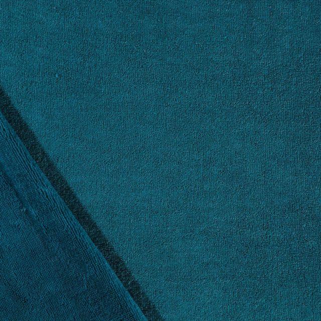 Tissu Micro Éponge Bambou Bleu pétrole - Par 10 cm