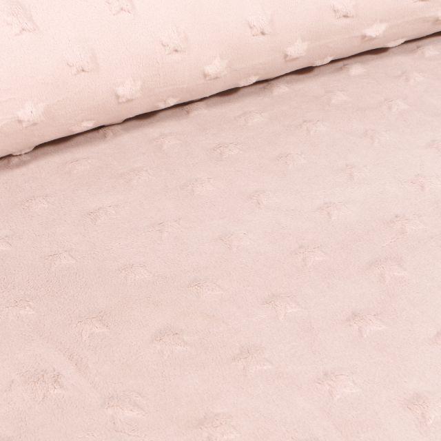 Tissu Minky Ultra doux Etoiles  Cappuccino