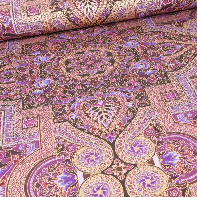 Tissu Robert Kaufman Persis Noble purple sur fond Violet