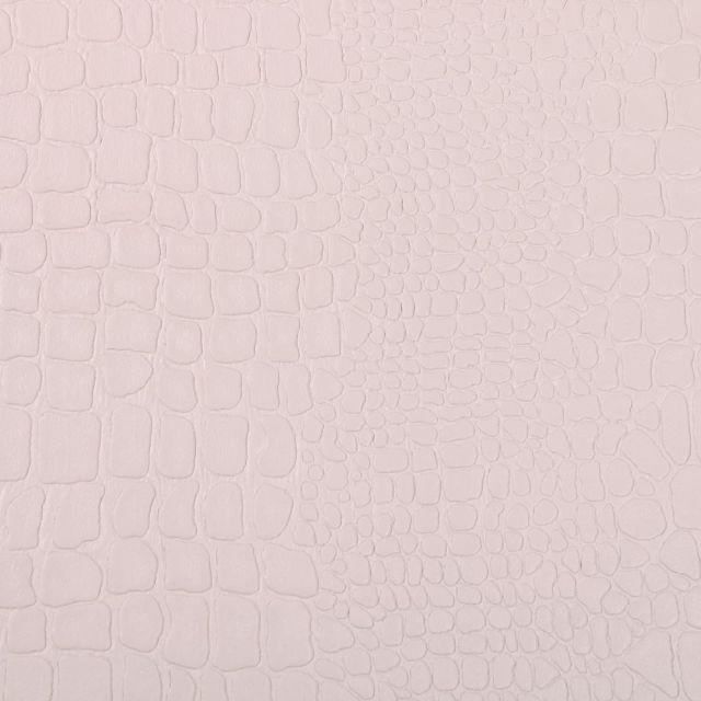 Tissu Simili cuir Croco Gris perle - Par 10 cm