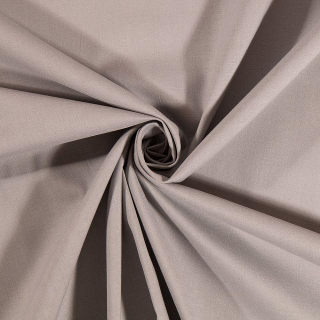 Tissu Coton uni Gris Éléphant - Par 10 cm