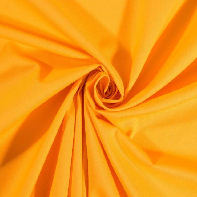 Tissu Coton uni Curry - Par 10 cm