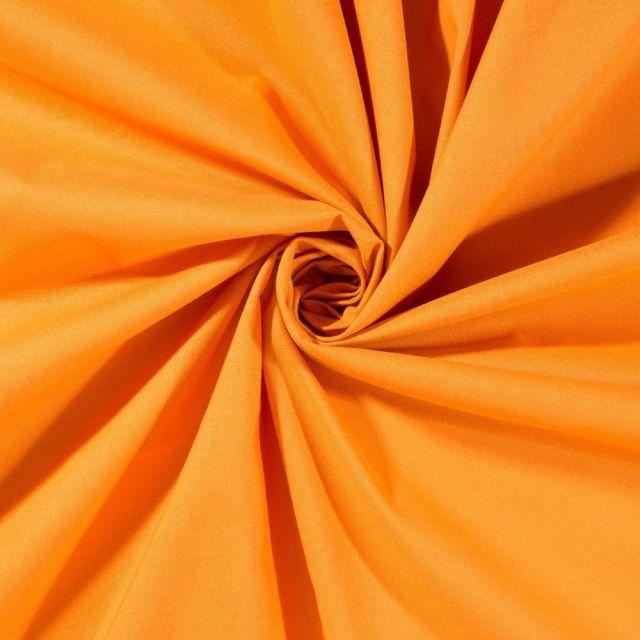 Tissu Coton uni Jaune orangé - Par 10 cm