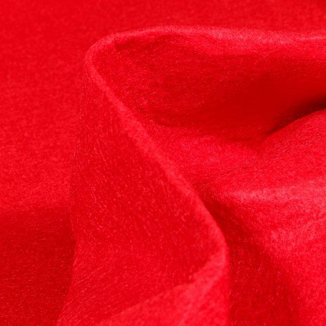 Tissu Feutrine 180 cm Rouge