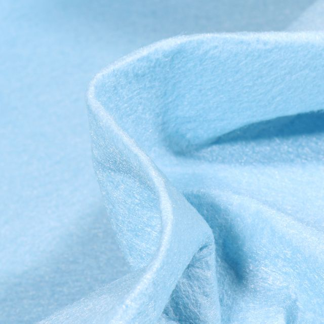 Tissu Feutrine 180 cm Bleu ciel