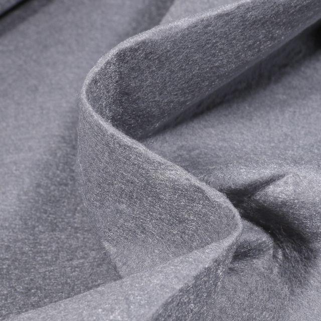 Tissu Feutrine 180 cm Gris galet