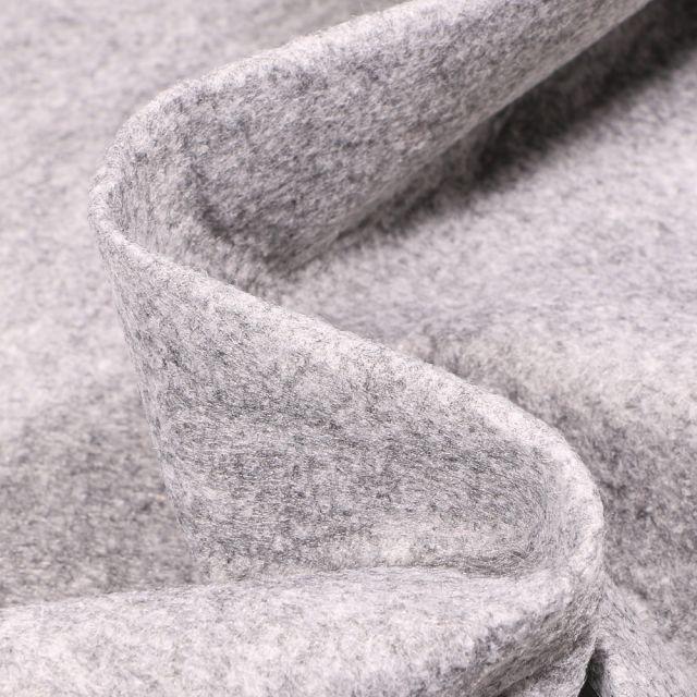 Tissu Feutrine 180 cm Gris chiné