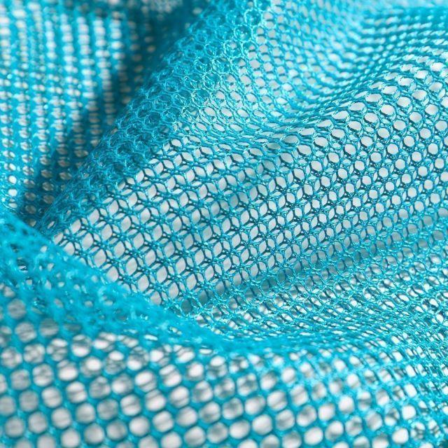 Tissu Filet Vrac mesh Bleu pétrole - Par 10 cm