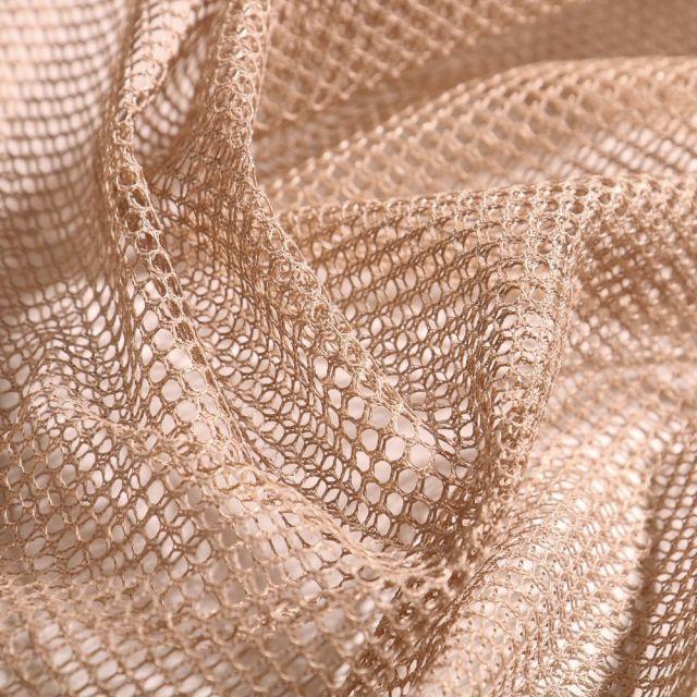 Tissu Filet Vrac mesh Taupe - Par 10 cm