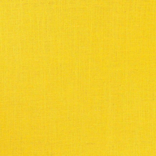 Tissu Toile de Jute Jaune - Par 10 cm
