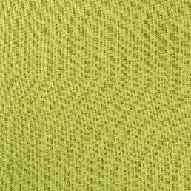 Tissu Toile de Jute Vert Anis - Par 10 cm
