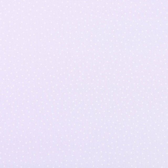 Tissu Piqué de Coton Pois blancs sur fond Parme - Par 10 cm