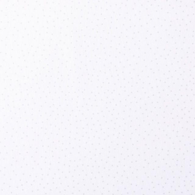 Tissu Piqué de Coton Pois vert d'eau sur fond Blanc - Par 10 cm